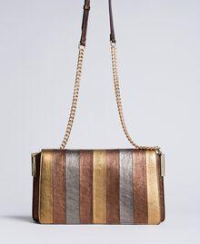Umhängetasche aus mehrfarbigem Metallic-Leder Mehrfarbig-Metallic Frau OA8TDA-01