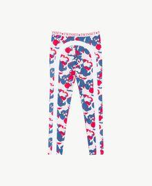 "Printed leggings ""Camouflower"" Print Woman LS86JJ-01"
