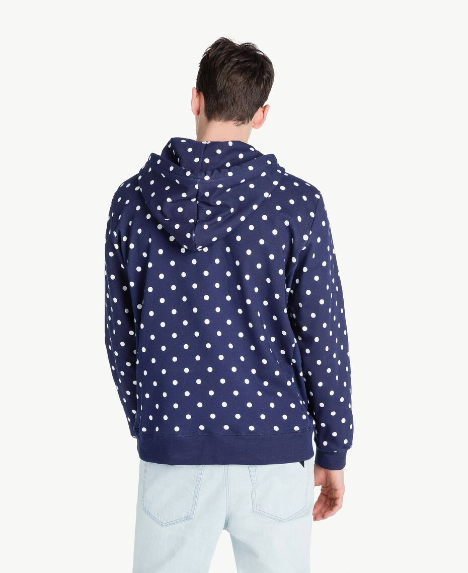 Sweat-shirt pois Bleu Blackout Homme US8251-03