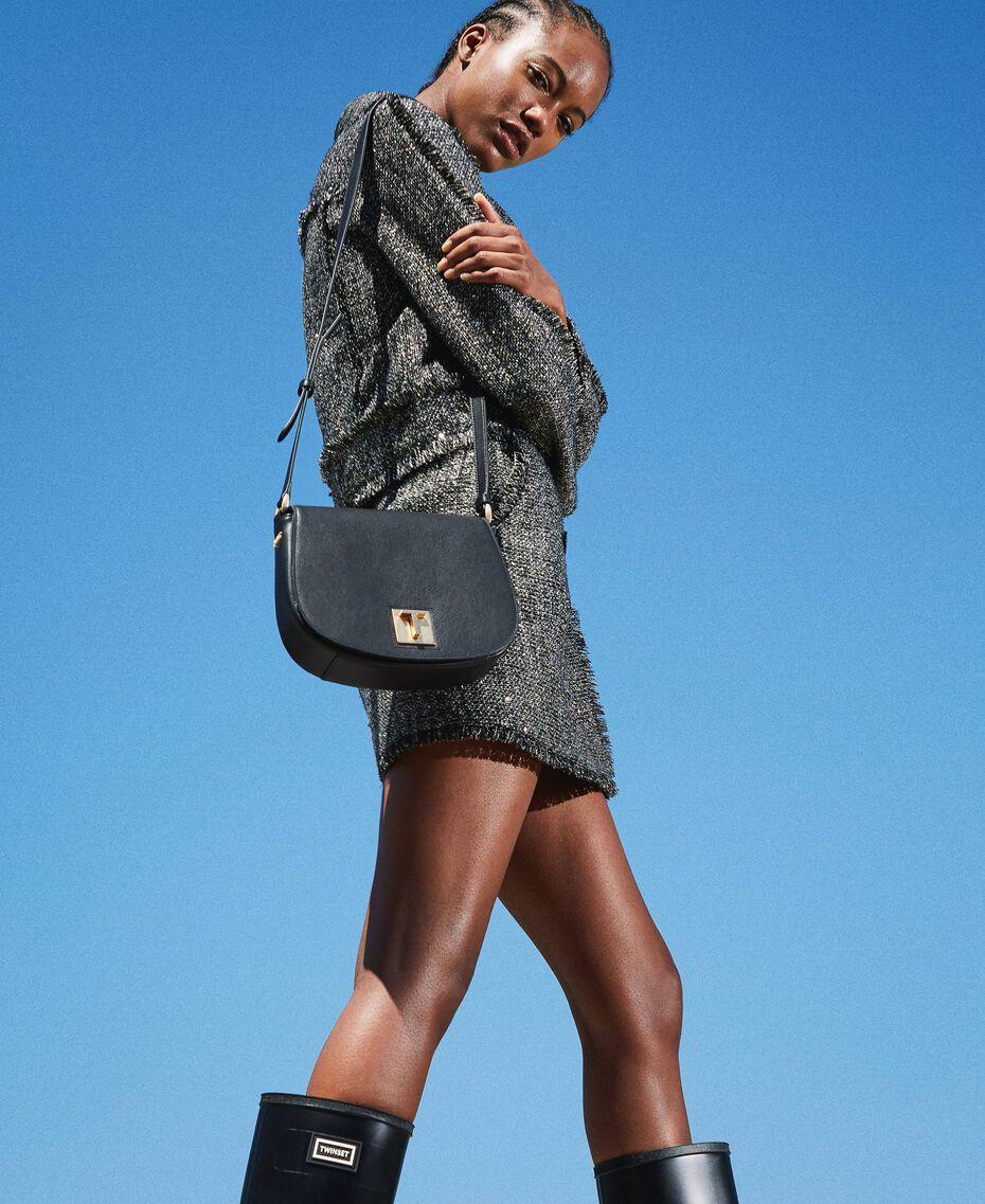 Leather shoulder bag Black Woman 202TD8041-0S