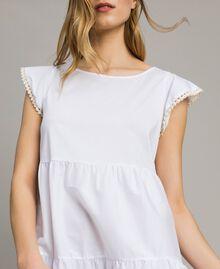 Vestido de popelina Blanco Mujer 191LB2JFF-04