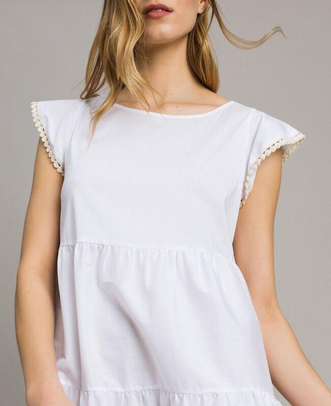 Poplin dress White Woman 191LB2JFF-04