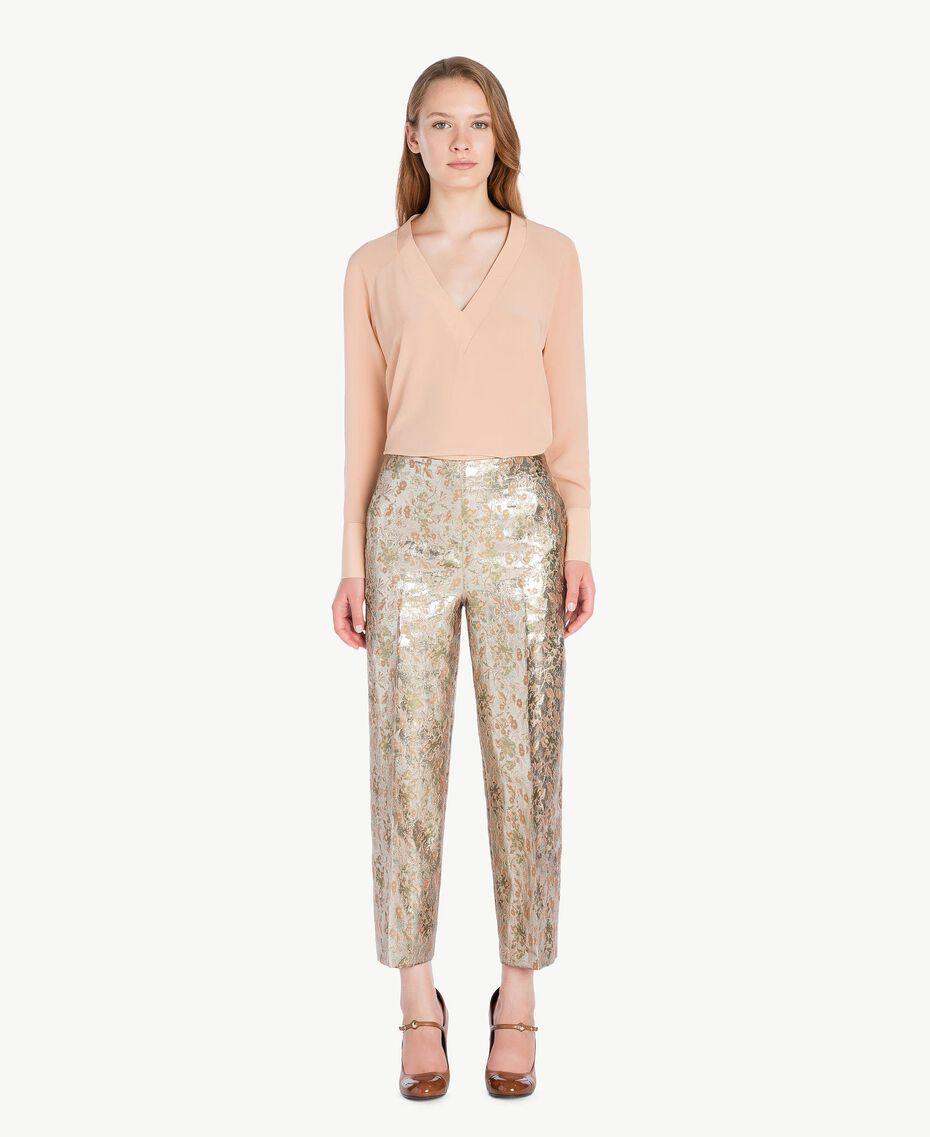 Bluse aus Seide Suntan-Rosa TA72F3-02