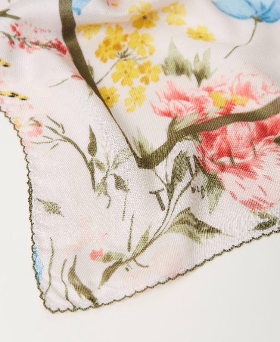 Floral kefiah Meadow Flower Print Woman 211TO5047-02