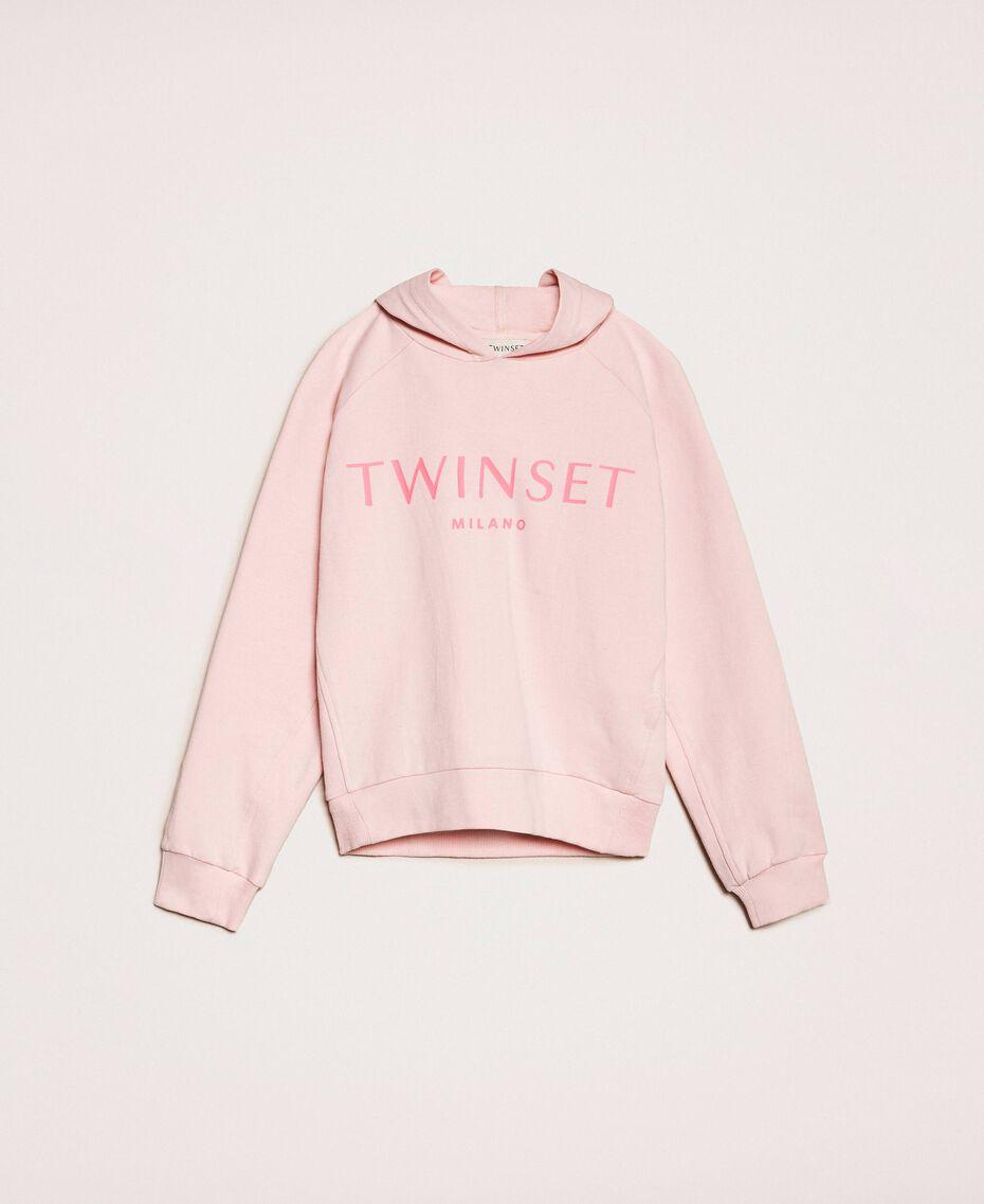 Толстовка с капюшоном и логотипом Принт Twinset Milano / Розовый Светлый Pебенок 201GJ2373-0S