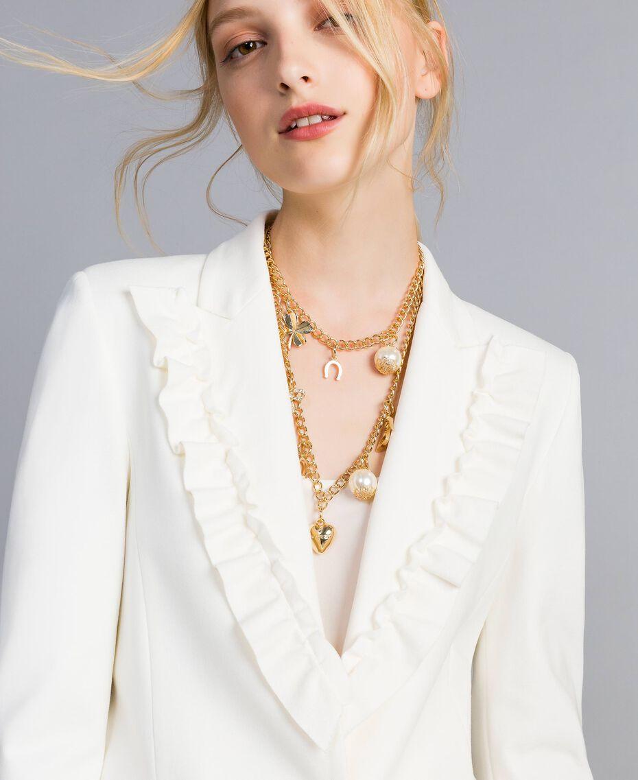 """Halskette aus Metall mit Anhängern """"Free""""-Hellgold Frau AA8P7H-0S"""