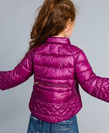 "Superleichte Steppjacke mit Herzen ""Sweet Grape""-Violett Kind GA82AX-03"