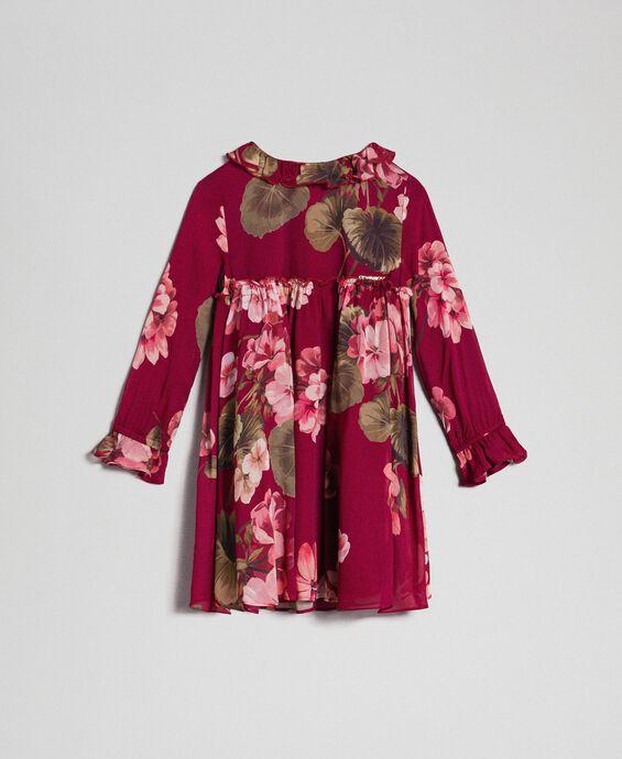 Robe en crêpe georgette avec imprimé floral