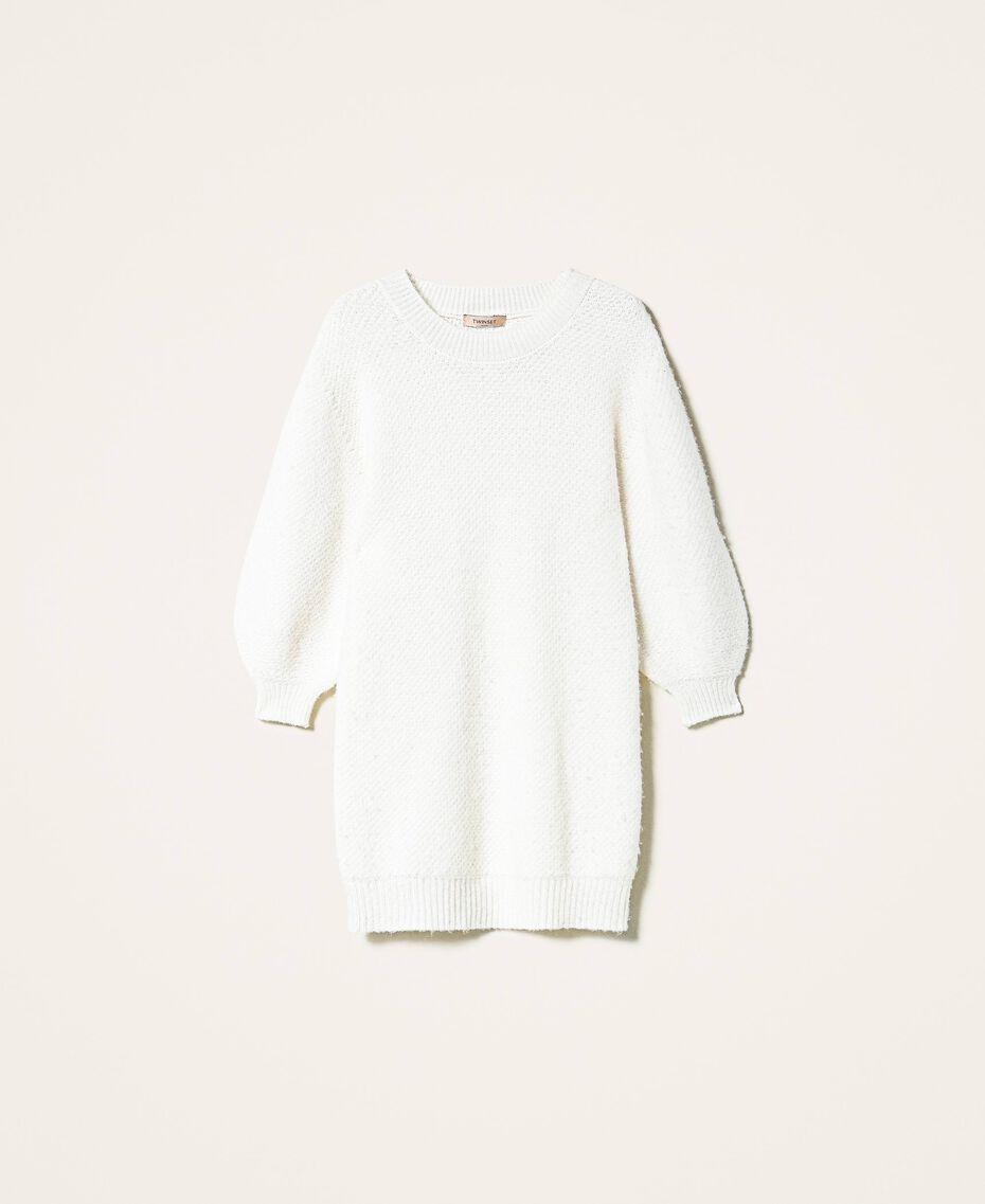 Robe en alpaga mélangé Blanc Crème Femme 202TP3240-0S