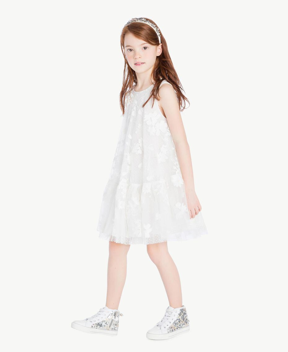 "Robe tulle Blanc ""Papers"" Enfant GS8LCA-03"