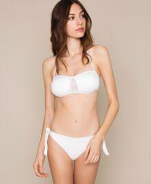 Soutien-gorge de bain bandeau avec strass Ivoire Femme 201LBM711-01
