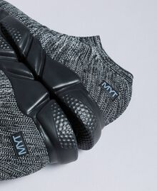 Slip-on-Sneaker aus Strickstoff Dunkelgrau-Mélange Mann UA8C91-01