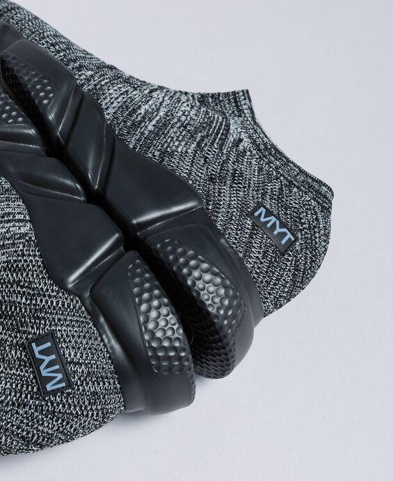 Sneakers slip on in maglia