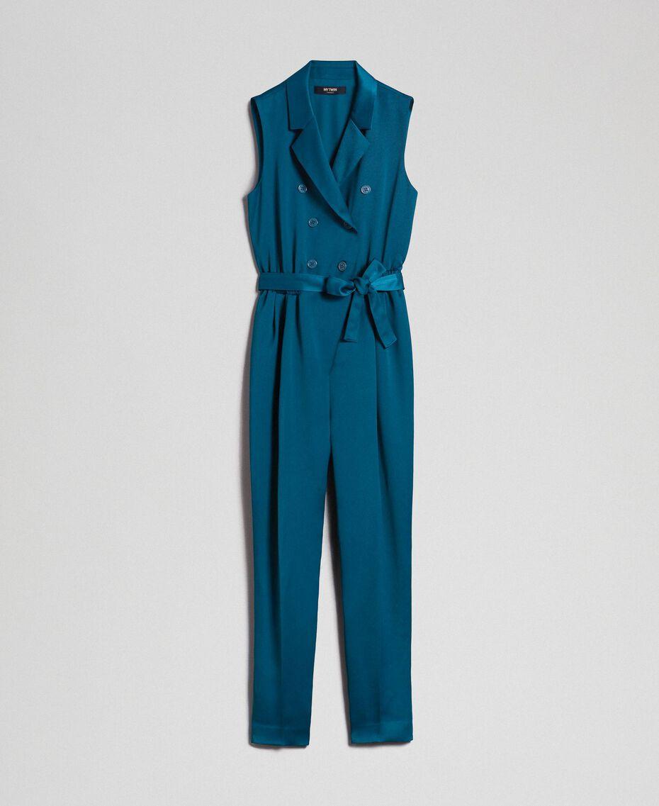 Combinaison croisée avec ceinture Bleu «Lake» Femme 192MP2350-0S