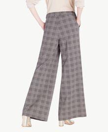 Pantalon palazzo carreaux Jacquard Vichy Femme PS827Q-03