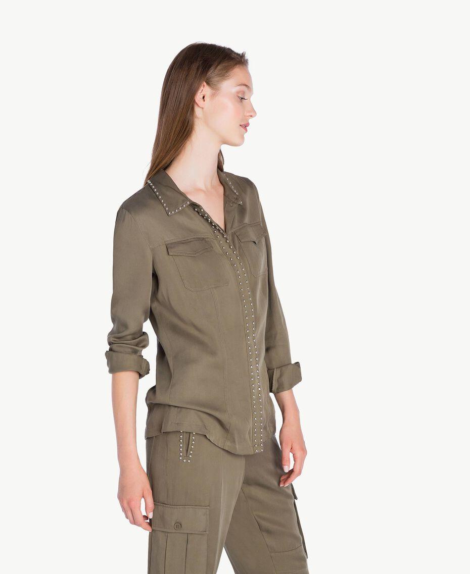 Hemd aus Twill Alpengrün JA72HP-02