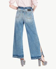 Wide leg jeans Denim Blue Woman JS82WZ-03