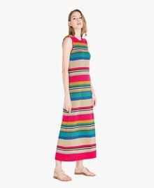 Kleid mit Lurex Multicolor-Lurexstreifen Frau TS833N-02