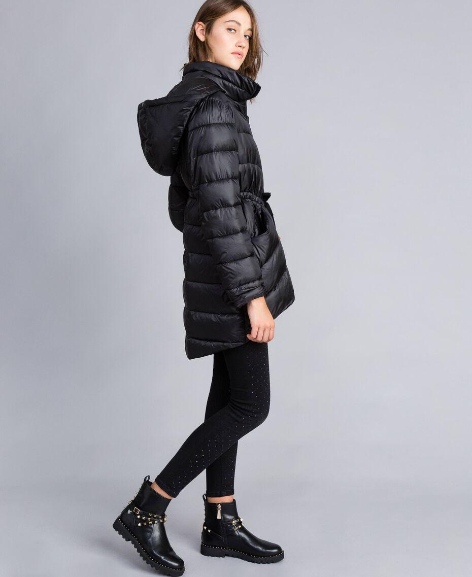 Doudoune longue avec broche Noir Femme JA82A1-02