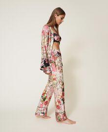 Pantalón de raso estampado Estampado Animal print Mujer 202LL2EFF-01