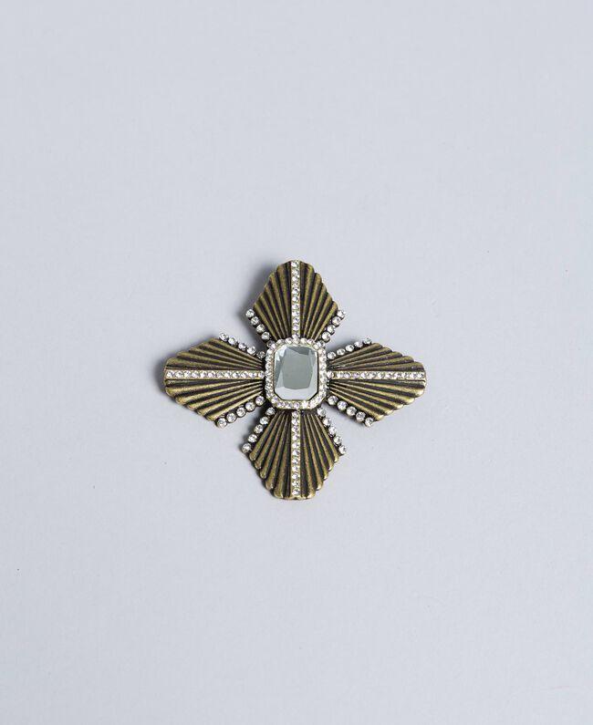 Broche avec strass et pierre centrale Cristal Femme AA8P7Q-01