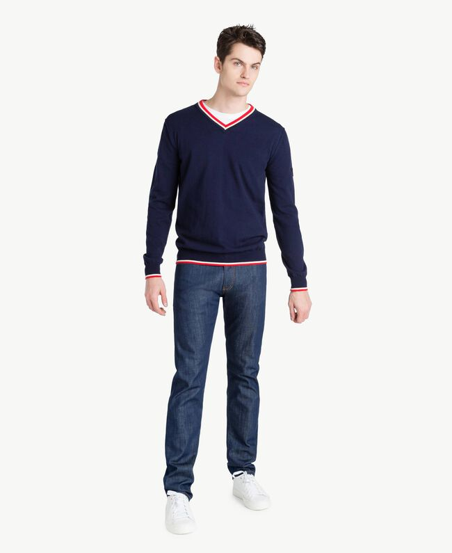 Pullover aus Baumwolle Blackout Blau Mann US831P-05
