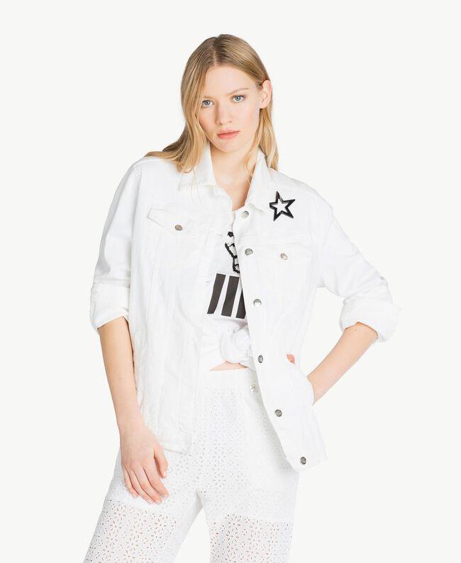 Stars jacket White Woman JS82Z7-01