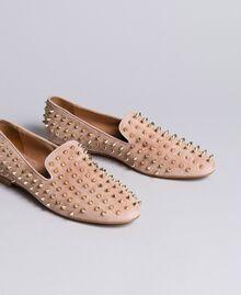 """Slippers in pelle scamosciata con borchie Rosa """"Pale Pink"""" Donna CA8TFJ-03"""