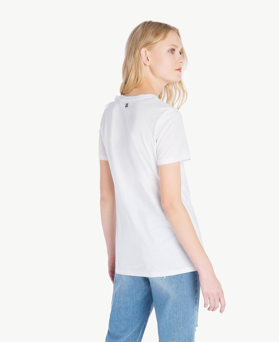 Ruched T-shirt White Woman JS82RS-03