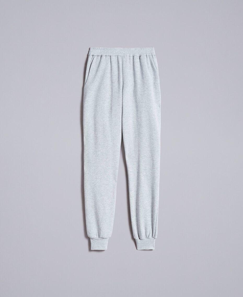Fleece jogging trousers Melange Grey Woman PA82CE-0S