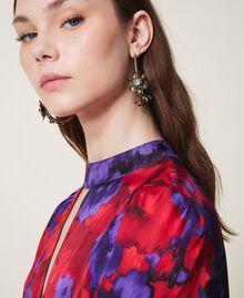 Boucles d'oreilles avec fleurs Laiton Usé Femme 202TO5051-0S