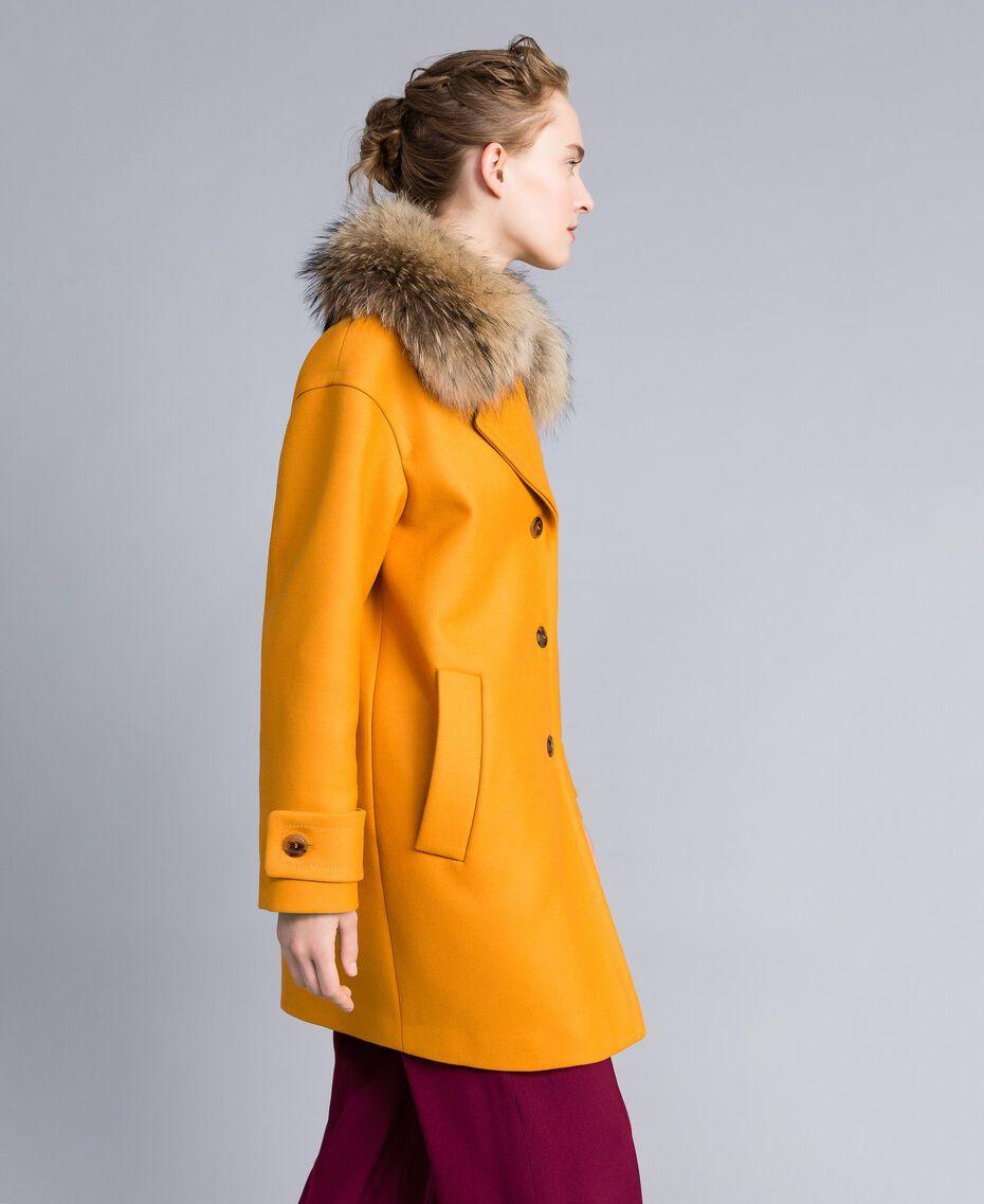 Manteau oversize en drap avec col Brandy Femme PA826N-02