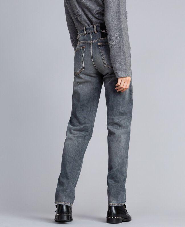 Jeans in Vintageoptik Denim-Grau Frau JA82YB-03