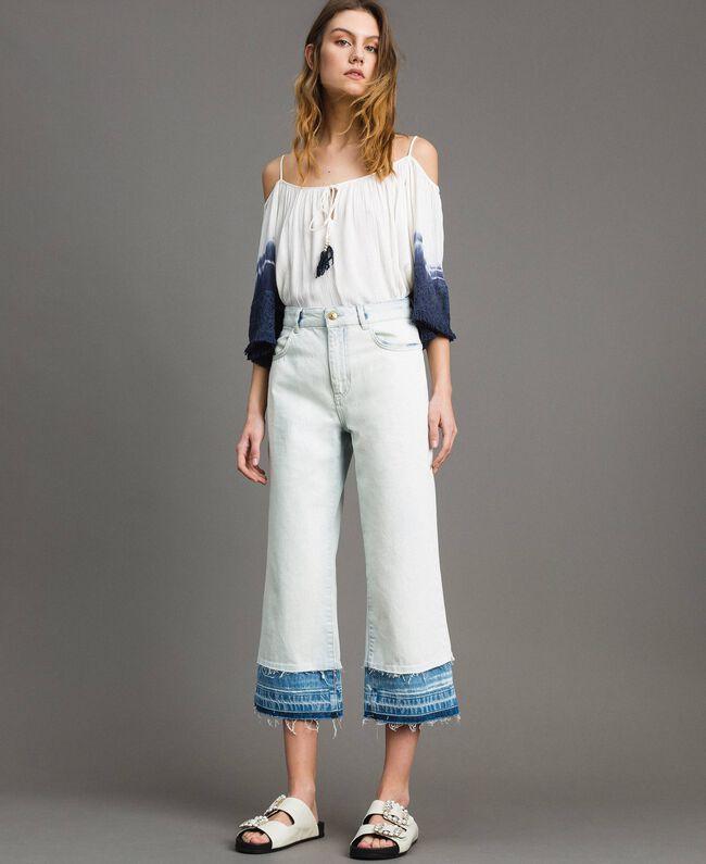Cotton denim wide leg jeans Denim Blue Woman 191MT2432-01