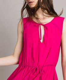 "Crepe de Chine long dress ""Psychedelic Pink"" Fuchsia Woman 191LB2LAA-04"