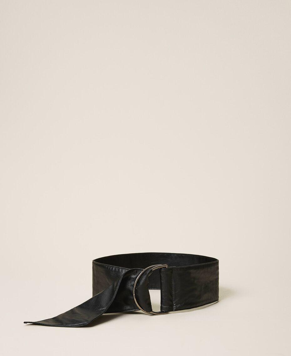 Faux leather sash belt Black Woman 202MA4352-01