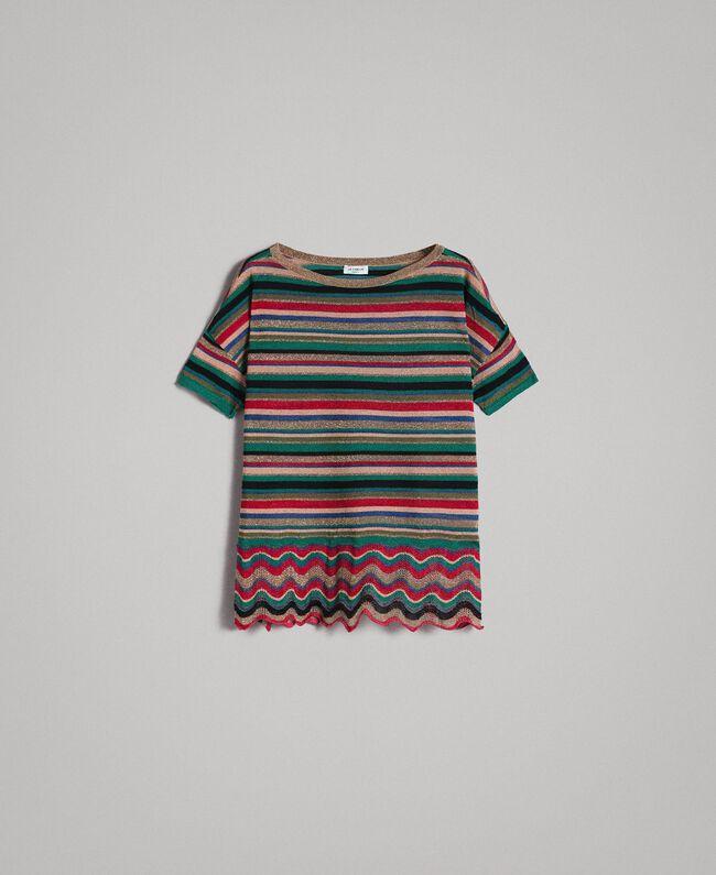 0162a0351be1 Maxi maglia a righe lurex Rigato Multicolor Donna 191ST3141-0S
