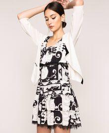 Мини-платье из набивного жоржета Принт Либерти Белый / Черный женщина 201ST213L-0T