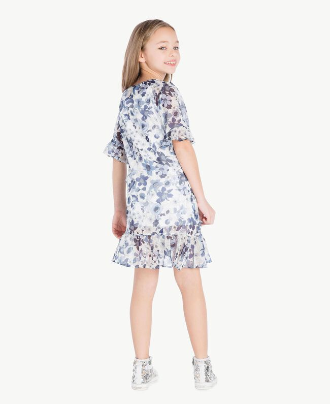 Robe imprimée Imprimé Floral Bleu Océan / Bleu Enfant GS82V2-04