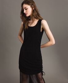 Lurex mini dress with drawstring Black Woman 191MP2023-01