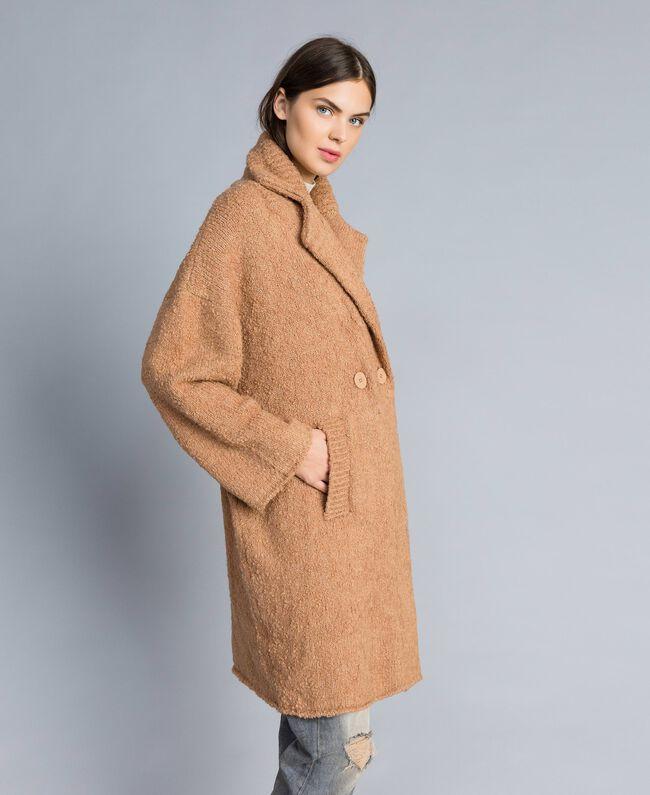 Manteau en fil bouclé Beurre Femme SA83CA-03