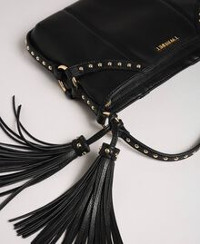 Faux leather shoulder bag with studs Black Woman 192TO8164-04