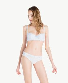 "Broderie anglaise Brazilian briefs ""Fairy Blue"" Blue Woman LS8G77-02"