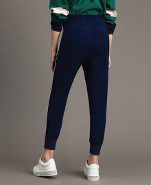 Pantalon de jogging en georgette Midnight Bleu Femme 191TP2326-03