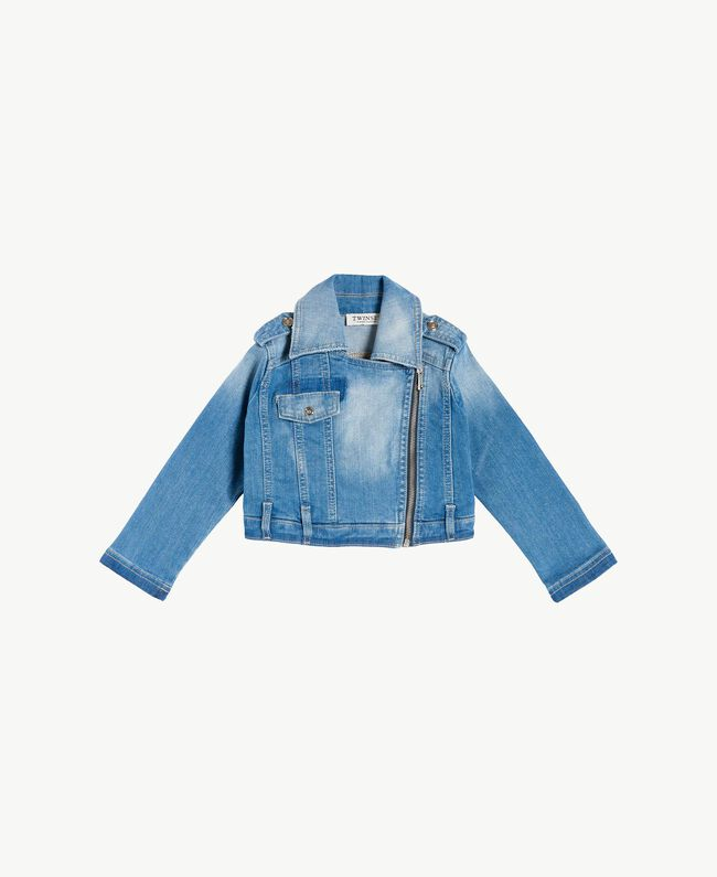 Bikerjacke aus Denim Helles Denim Kind GS82TP-01