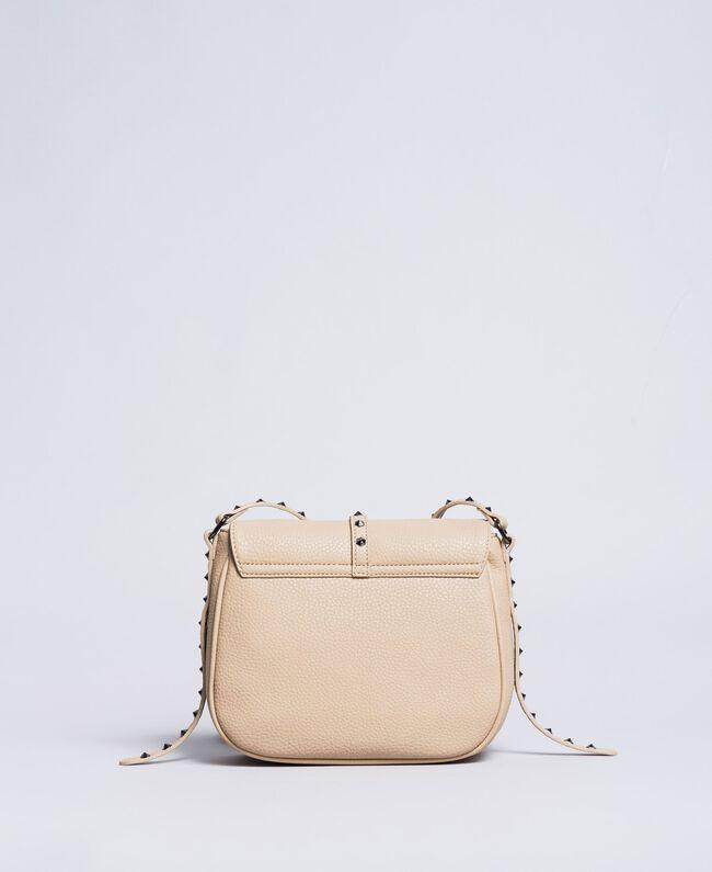Faux leather animal print shoulder bag Turtledove Woman VA8PAG-03