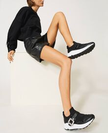 Running shoes with jewel buckle Black Woman 202TCP012-0S