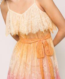 Robe en dentelle tie&dye Multicolore Tie Dye Rose Femme 201TT2281-04