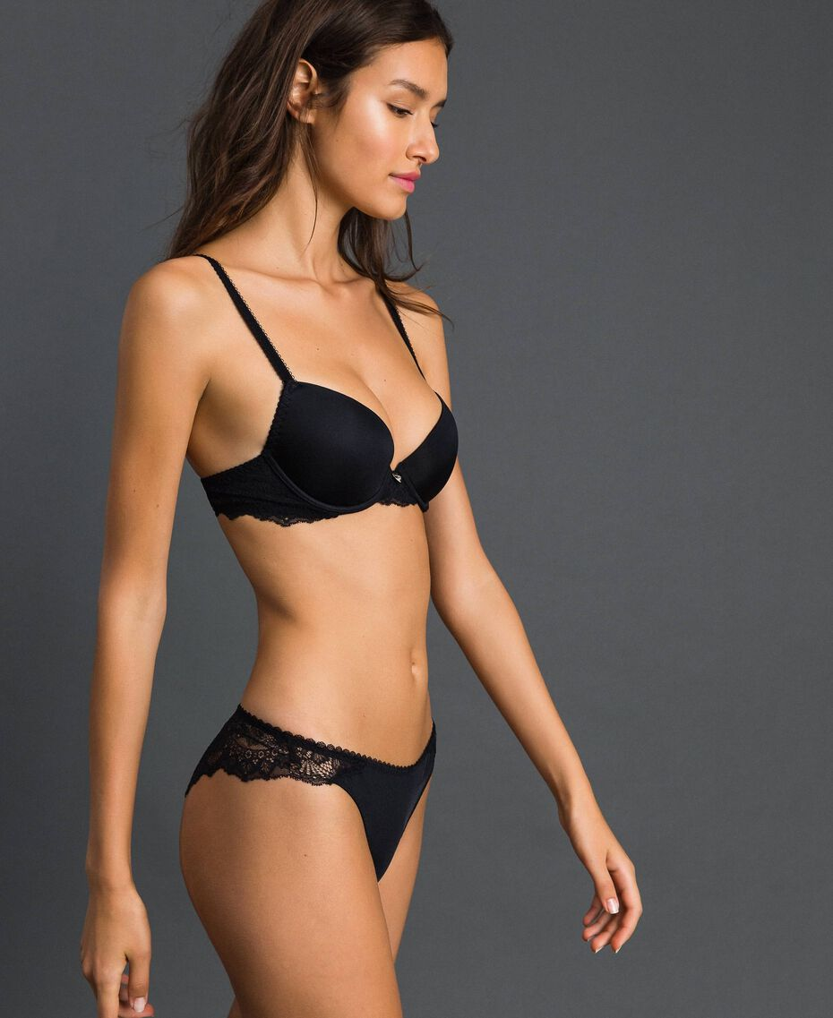 Push-up bra with lace Black Woman 192LL6C33-01