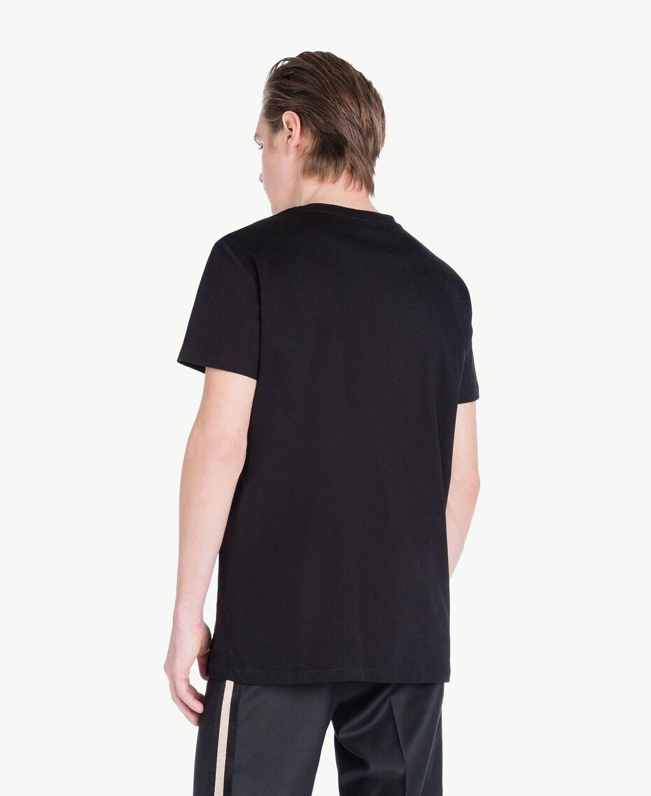T-Shirt mit Logo Schwarz Mann US8226-03